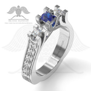 076-3 stones ring-enamel001a