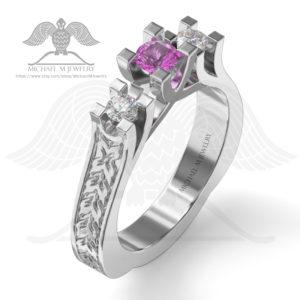 076-3 stones ring-enamel001b