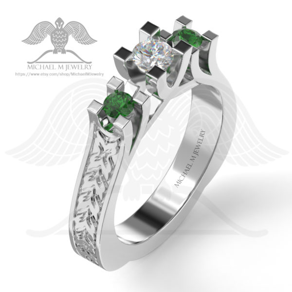 076-3 stones ring-enamel001c