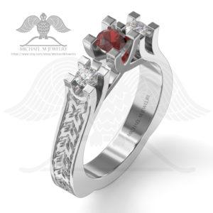 076-3 stones ring-enamel001d
