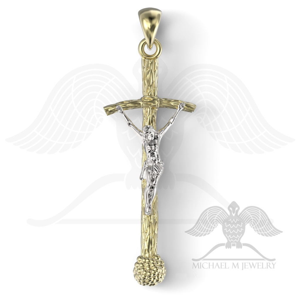 Pope catholic cross pendant 925 sterling silver custommade pope catholic cross pendant mozeypictures Image collections
