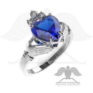Claddagh! BLUE heart ring