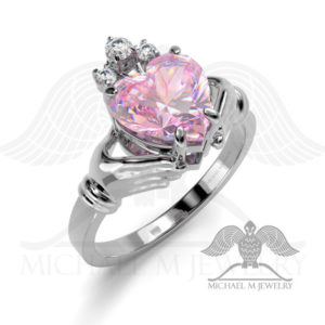 Claddagh! PINK heart ring