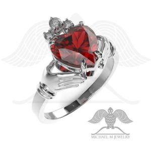 Claddagh! RED heart ring