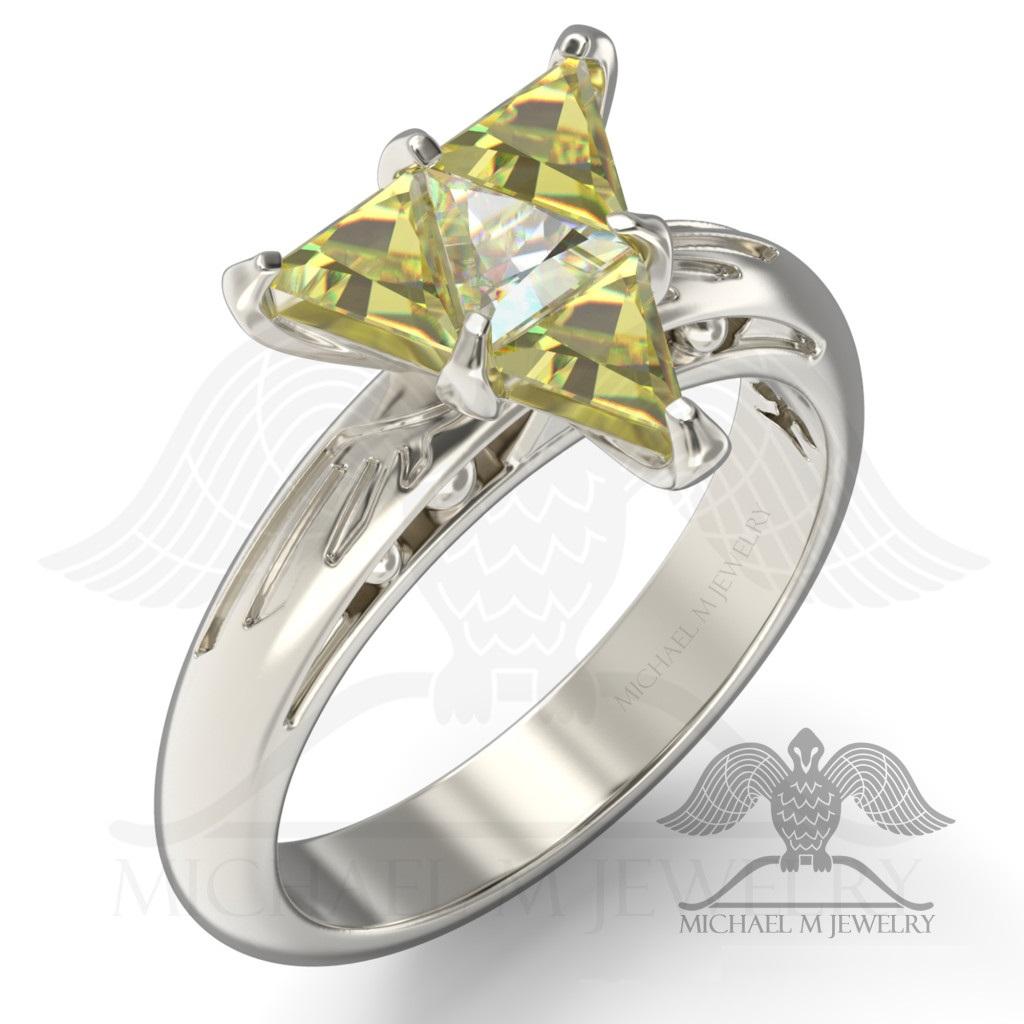 Be My Zelda Legend Hyrule Crest Triangle Trillion Ring