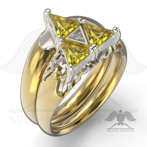 3 triangles be my zelda ring engagement - Zelda Wedding Ring
