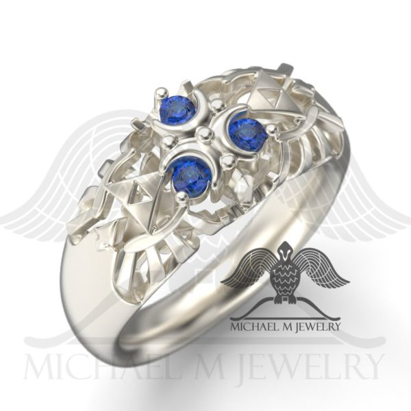 Zelda Zora Blue Sapphire Ring - One Tone by Michael M Jewelry