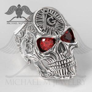139 - Skull Red Stones