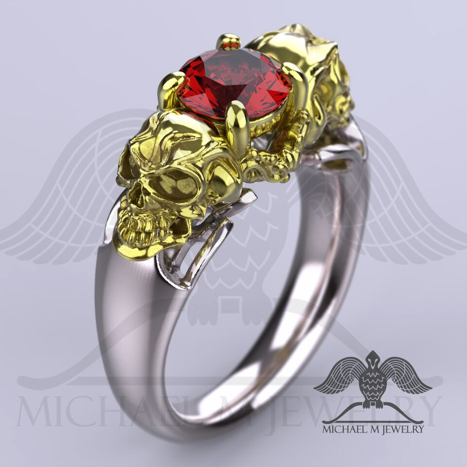 with w cross diamonds gold premium and ring stone bishop rings red clergy in engagement