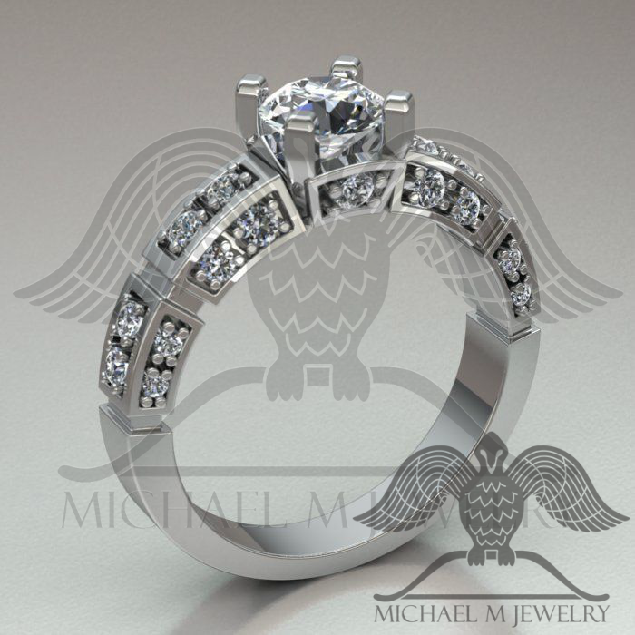 Fabulous Engagement Ring Custom Made Made To Order 319