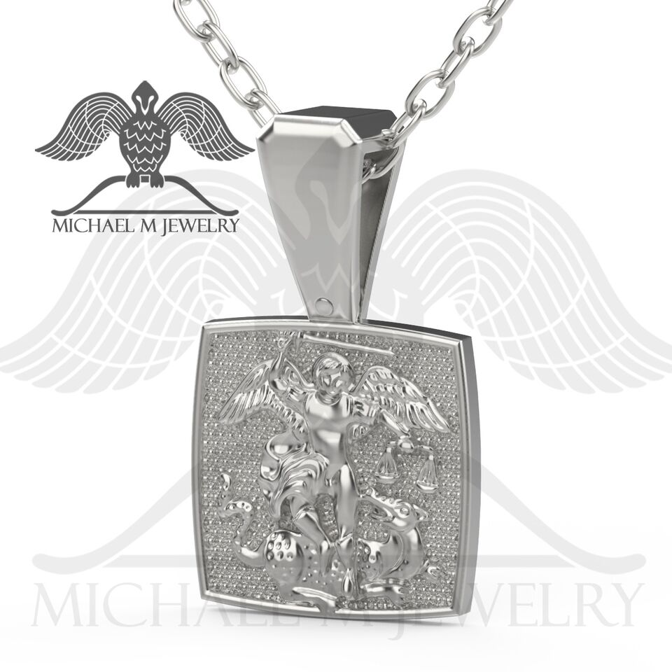 St michael pendent custommade handmade made to order 169 st michael pendent custommade handmade made to order 169 aloadofball Image collections
